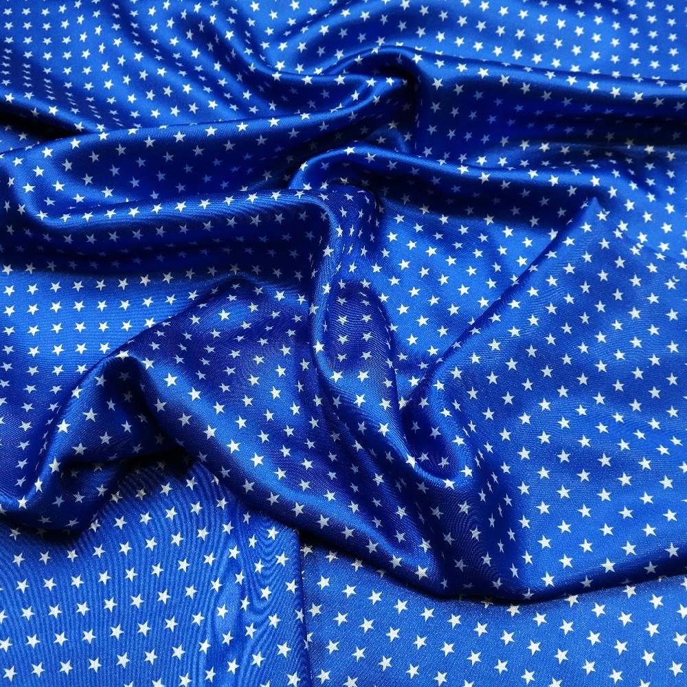 podšívka modrá bílá hvězda