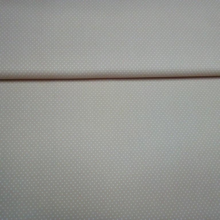 bavlna růžová bílý puntík