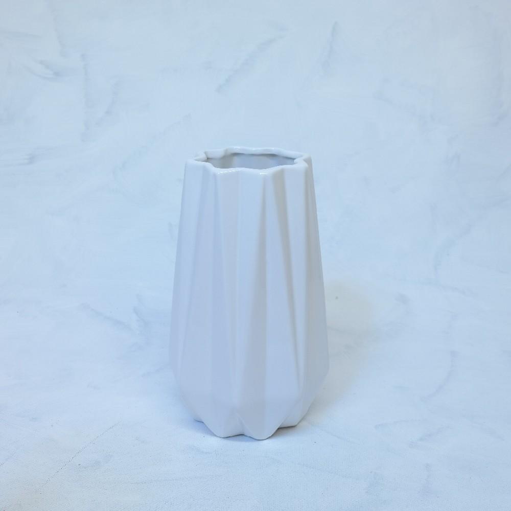 váza bílá 25x10cm