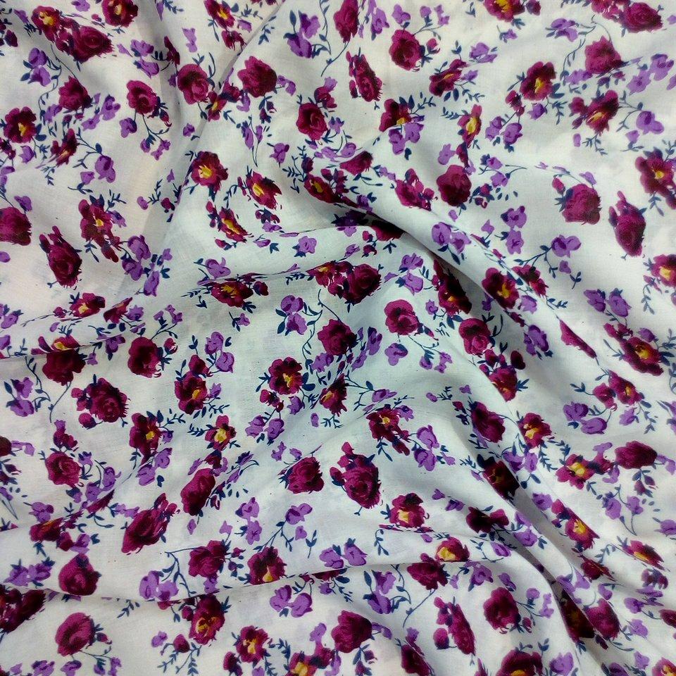 halenkovka bílá bordo květy