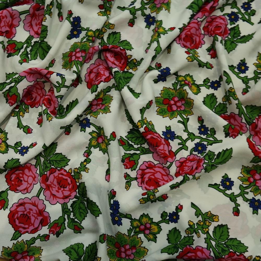 šatovka bílo/růž/z růže š.150