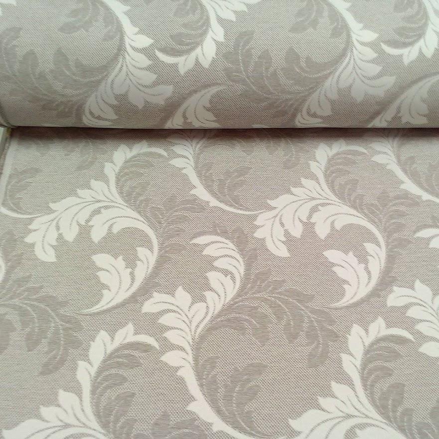 dekoračka šedá/ béžová  zámecký vzor 152