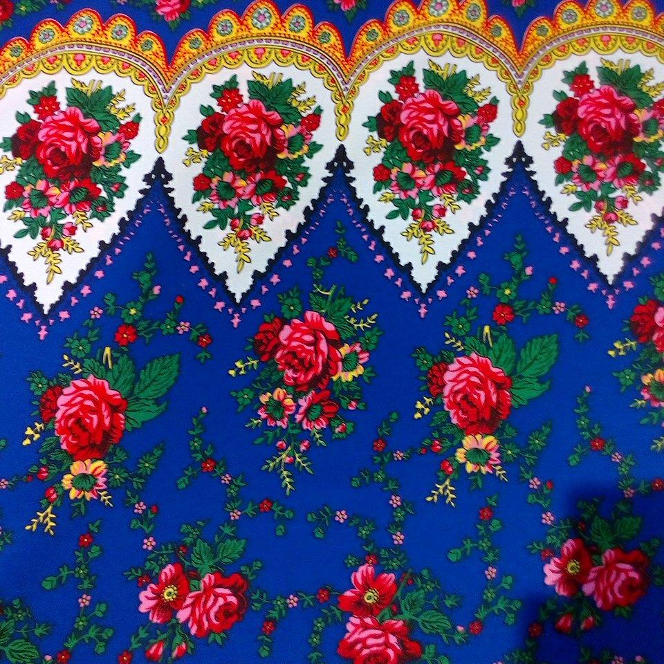 šatovka modrá,růž.květy,bílá bordura