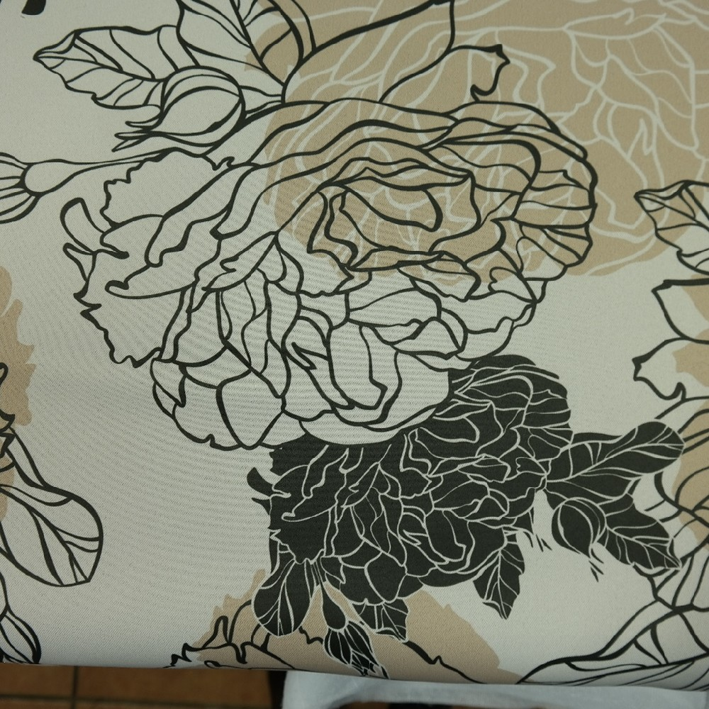 blac out 10087-01/140 béžovo černo hnědé květy