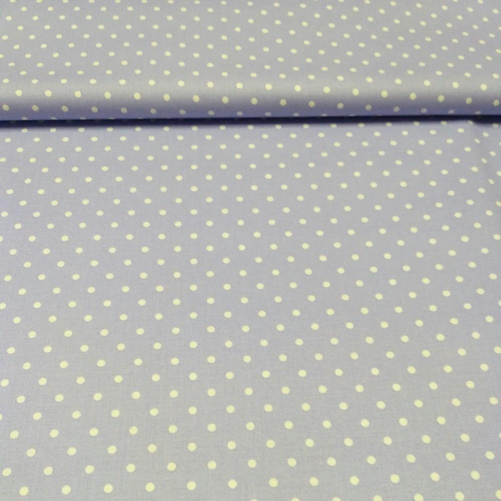 bavlna fialová puntík