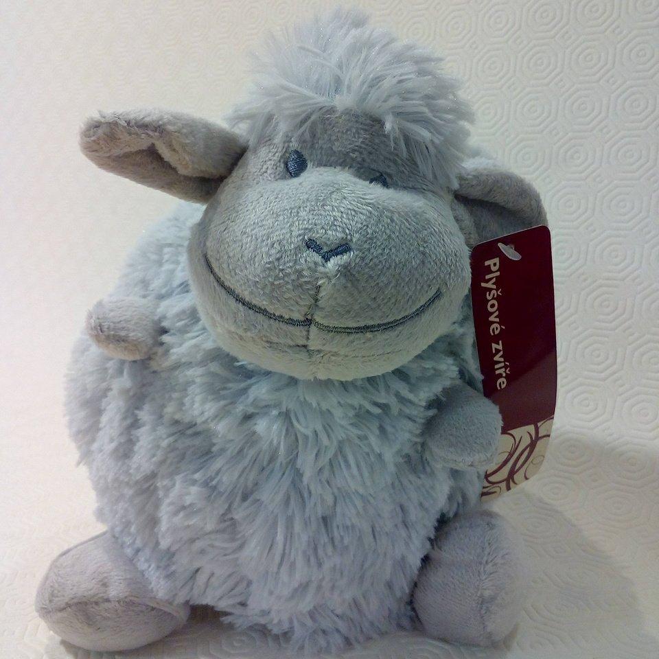 plyšák ovce koule šedá malá