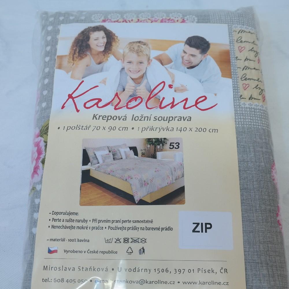 povlečení krep-zip140/200-70/90cm