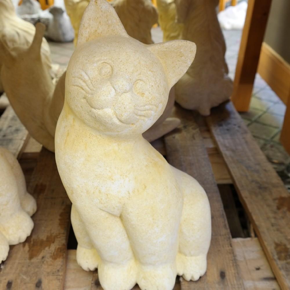 pískovec kočka sedící