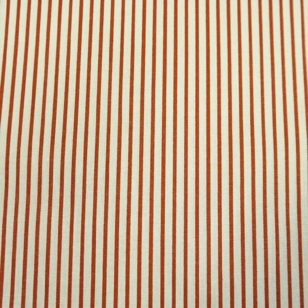 bavlna terakota bílý úzký proužek 140 cm