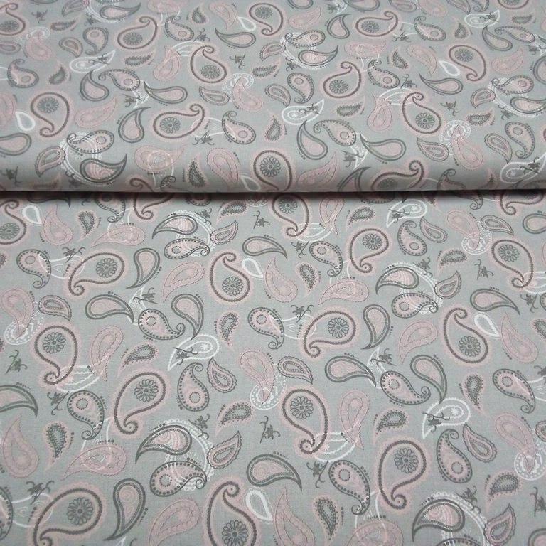 bavlna šedá indický vzor1574803/30 140cm