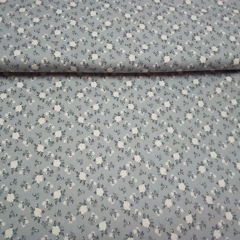 bavlna šedá potisk růže 8020208/82 140cm