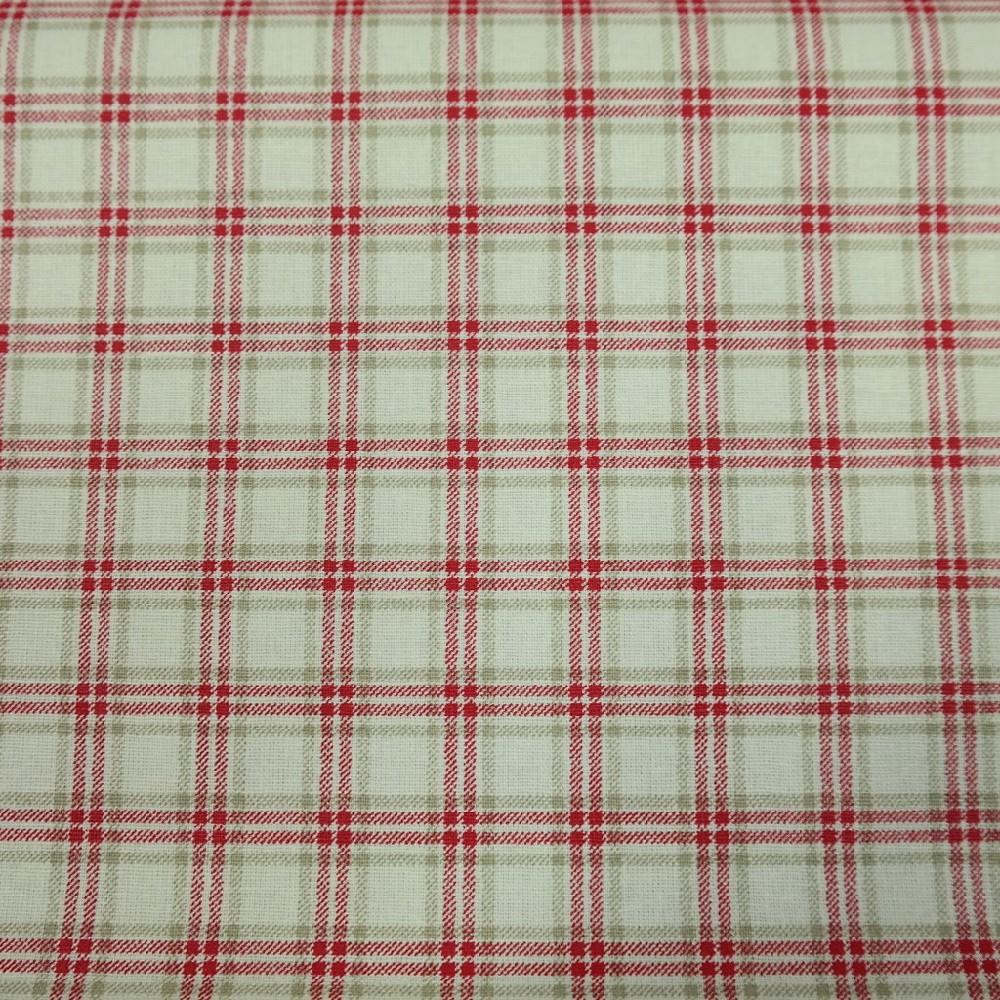 bavlna červeno šedo bílá kostička v kostičce 140 cm