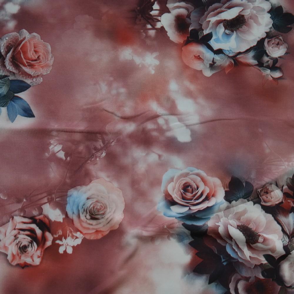 hedvábí uměl.růž.růž.kytice