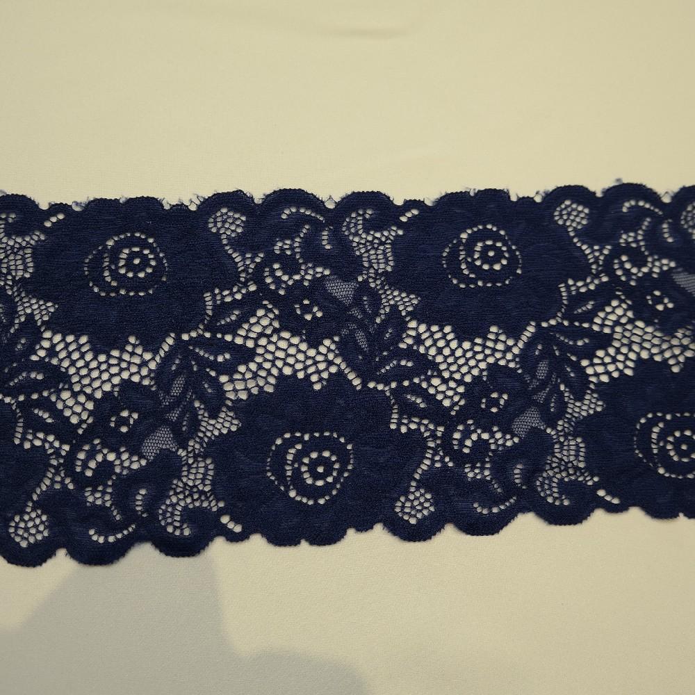 krajka elastické modrá