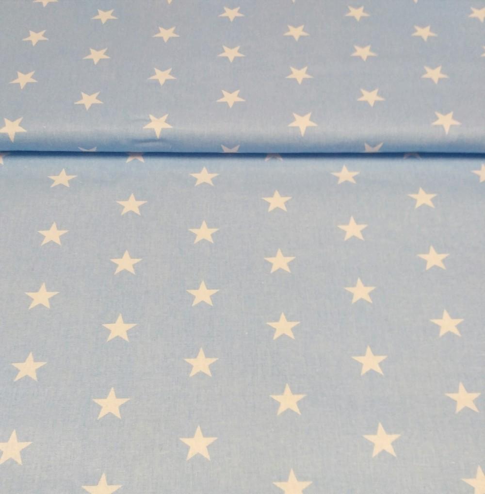 bavlna modrá hvězdy