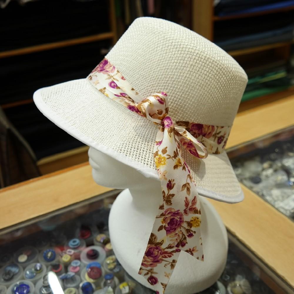 klobouk dámský bílý,papír