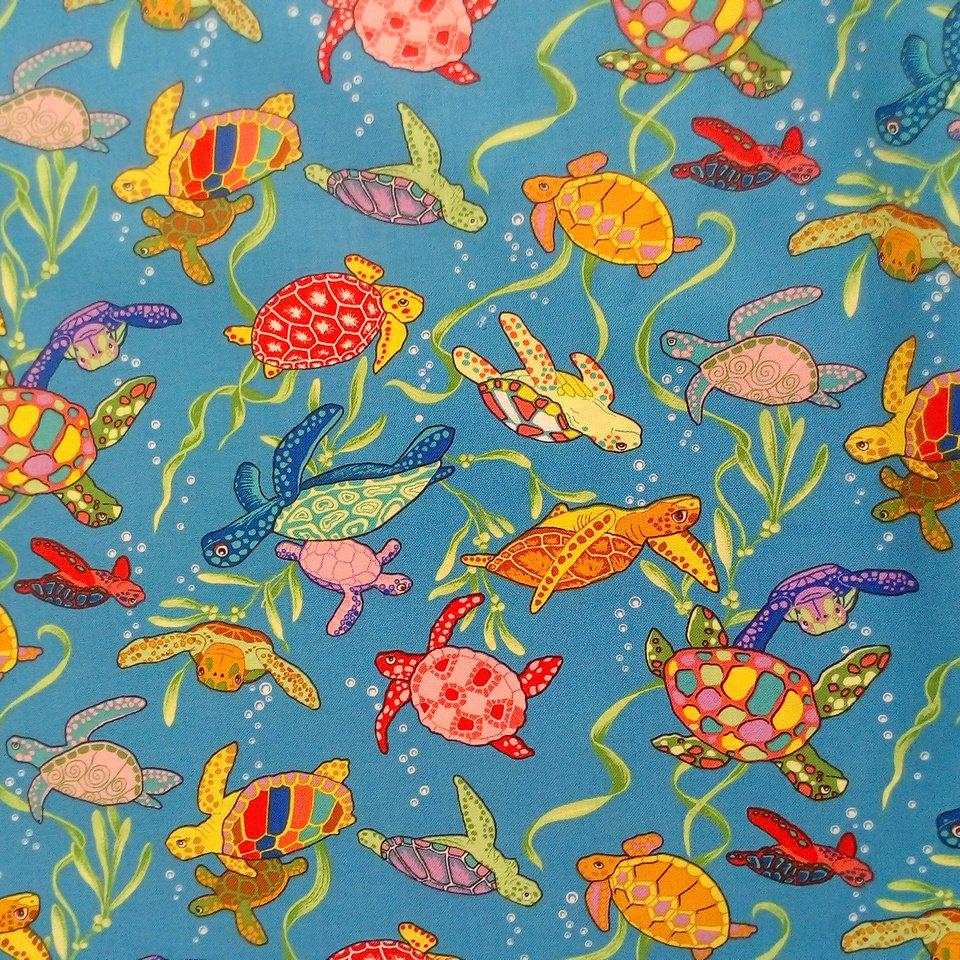 Bavlna modrá želvy