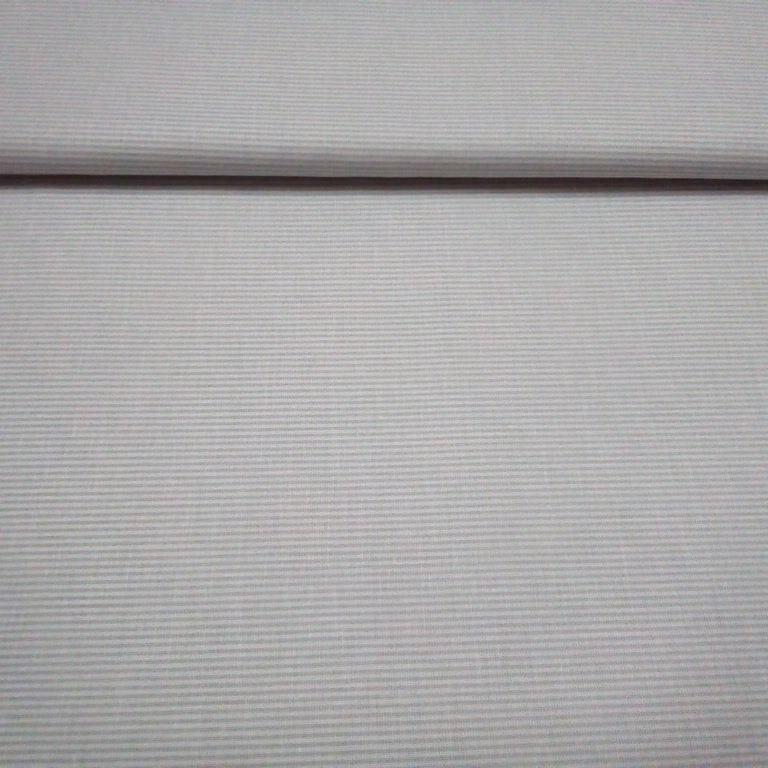 bavlna šedo-bílý jemný proužek
