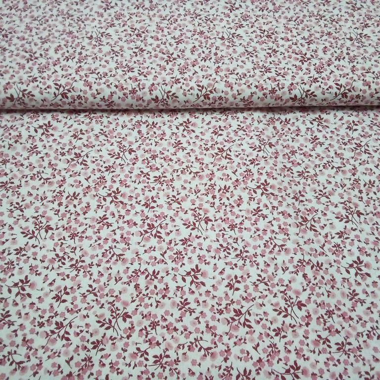 bavlna rúžový kvítek