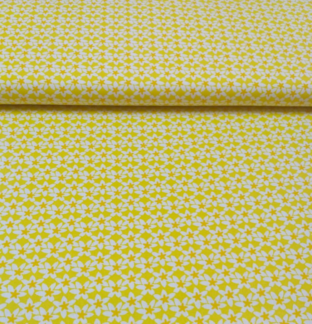 bavlna žluté květiny