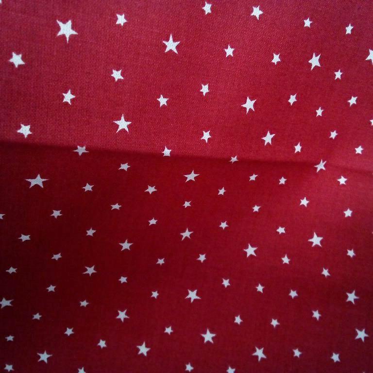 bavlna červeno bíláí hvězdicečka 140 cm