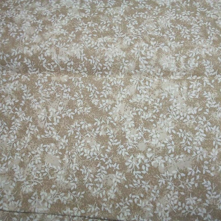 bavlna sv.hnědo béžové věrvičky š.140 cm