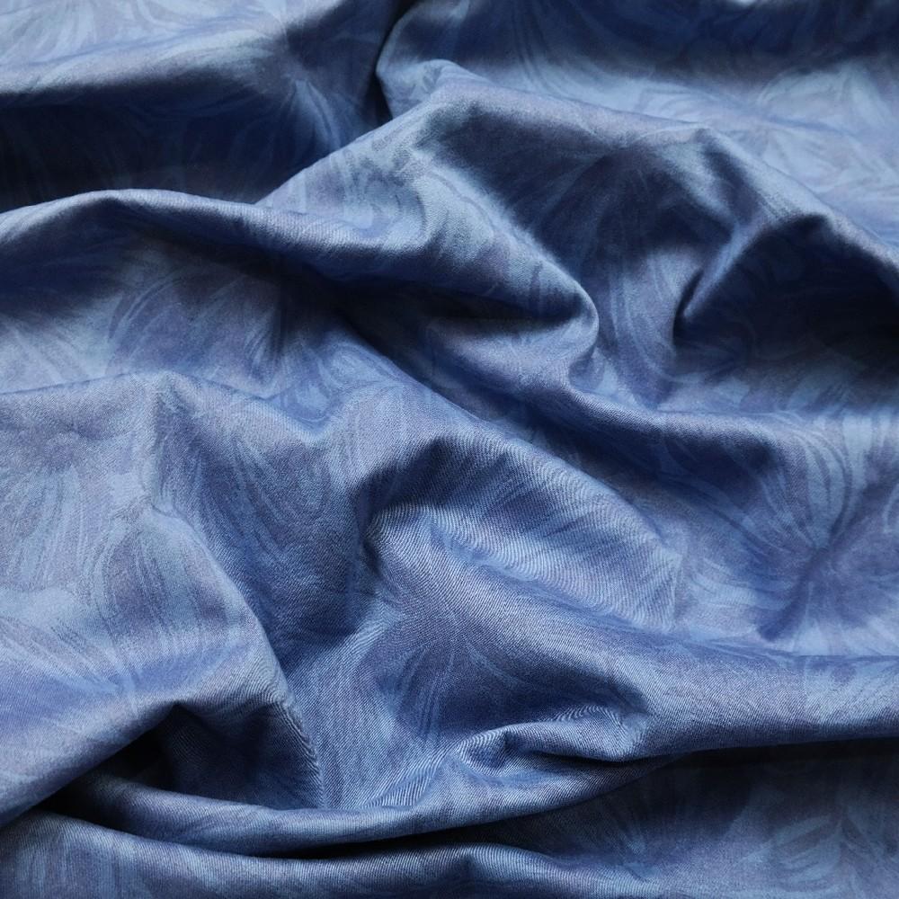 bavlna elast. modrá květ
