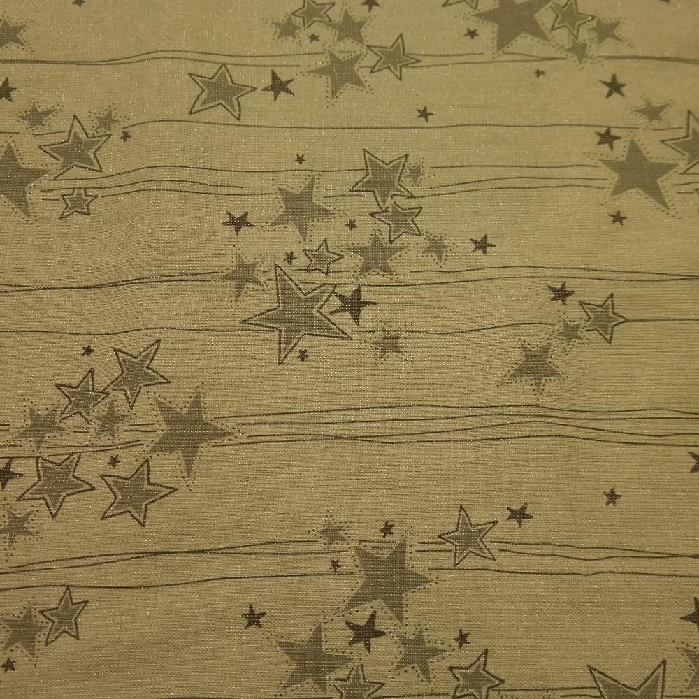 dekoračka vánoční,šedé hvězdy s proužkem