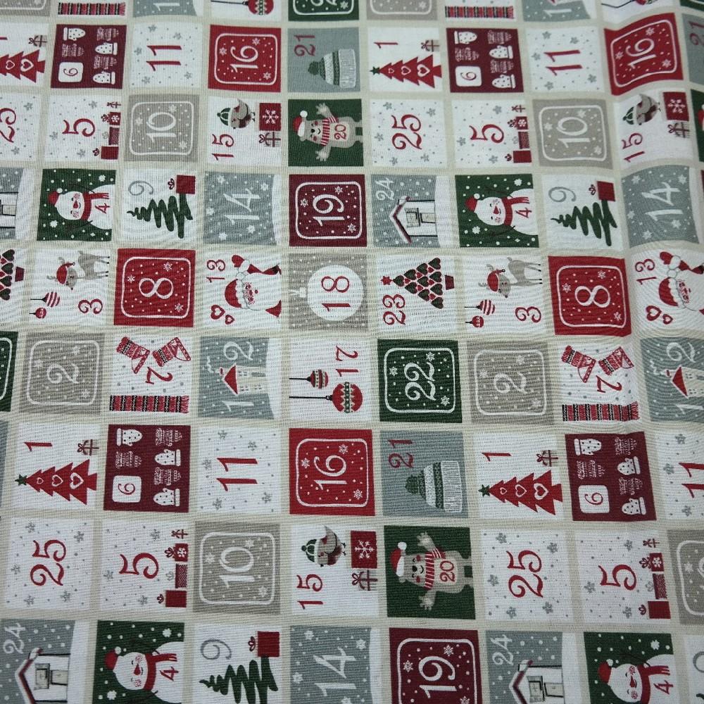 bavlna vánoční,adventní kalendář