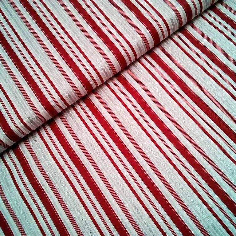 bavlna vánoční bordo-stříbrný pruh
