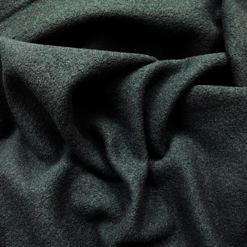 vlněný žoržet černý silný oblekový