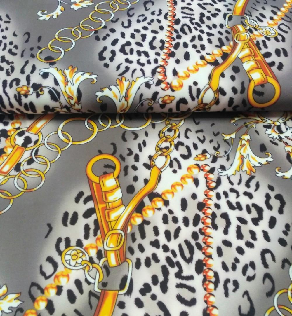 úplet šedý,žl,řetěz,gepardí vzor
