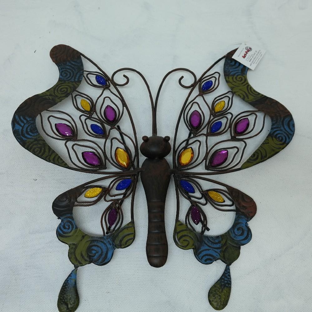 motýl kovový deco