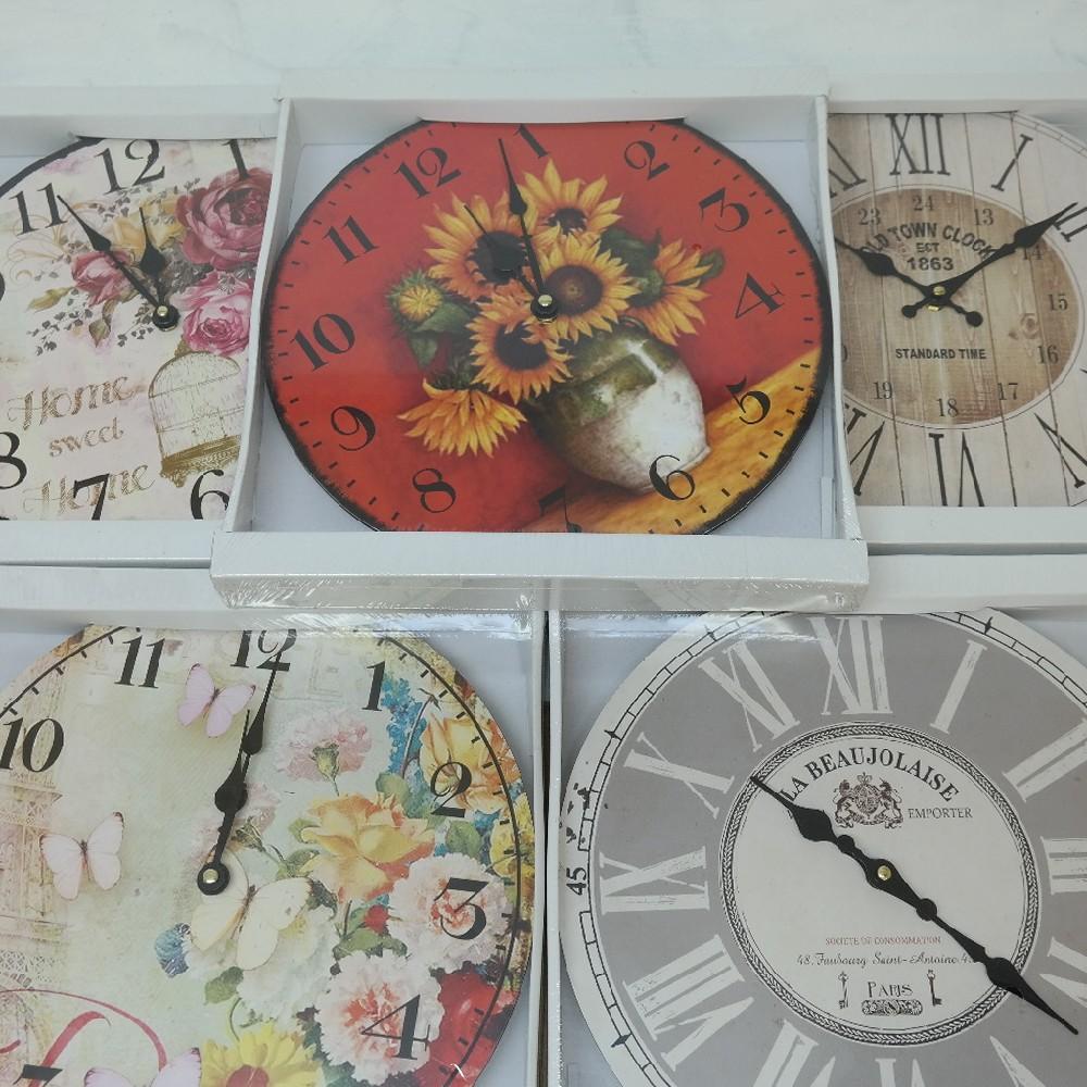 hodiny dřevo34cm