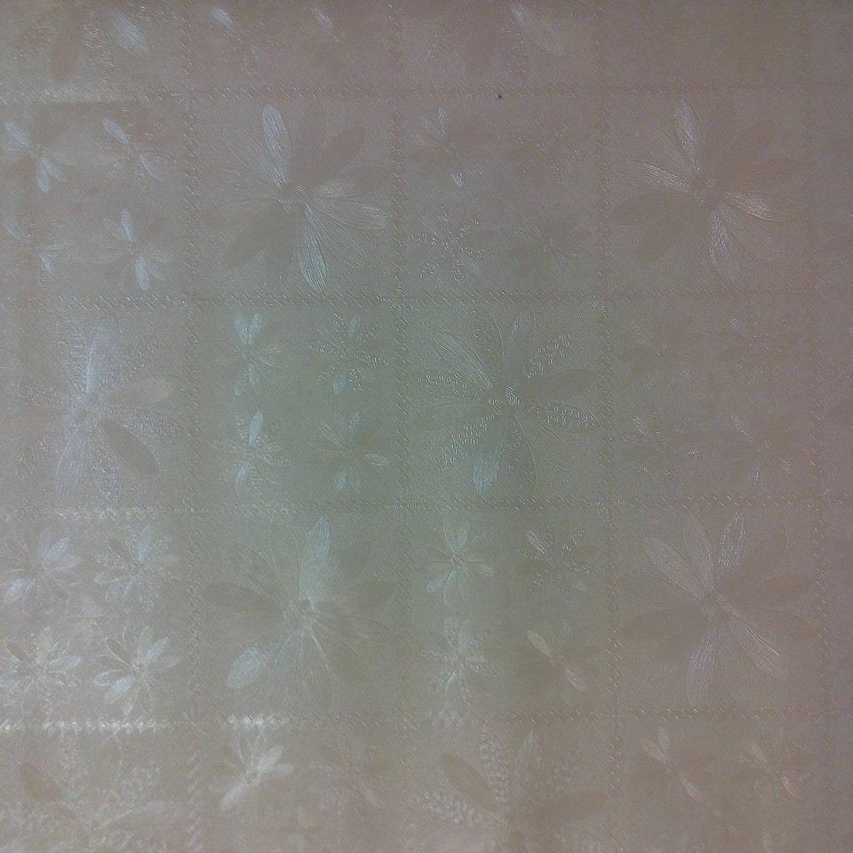 Ubrus PVC smet./čtvr.s květy