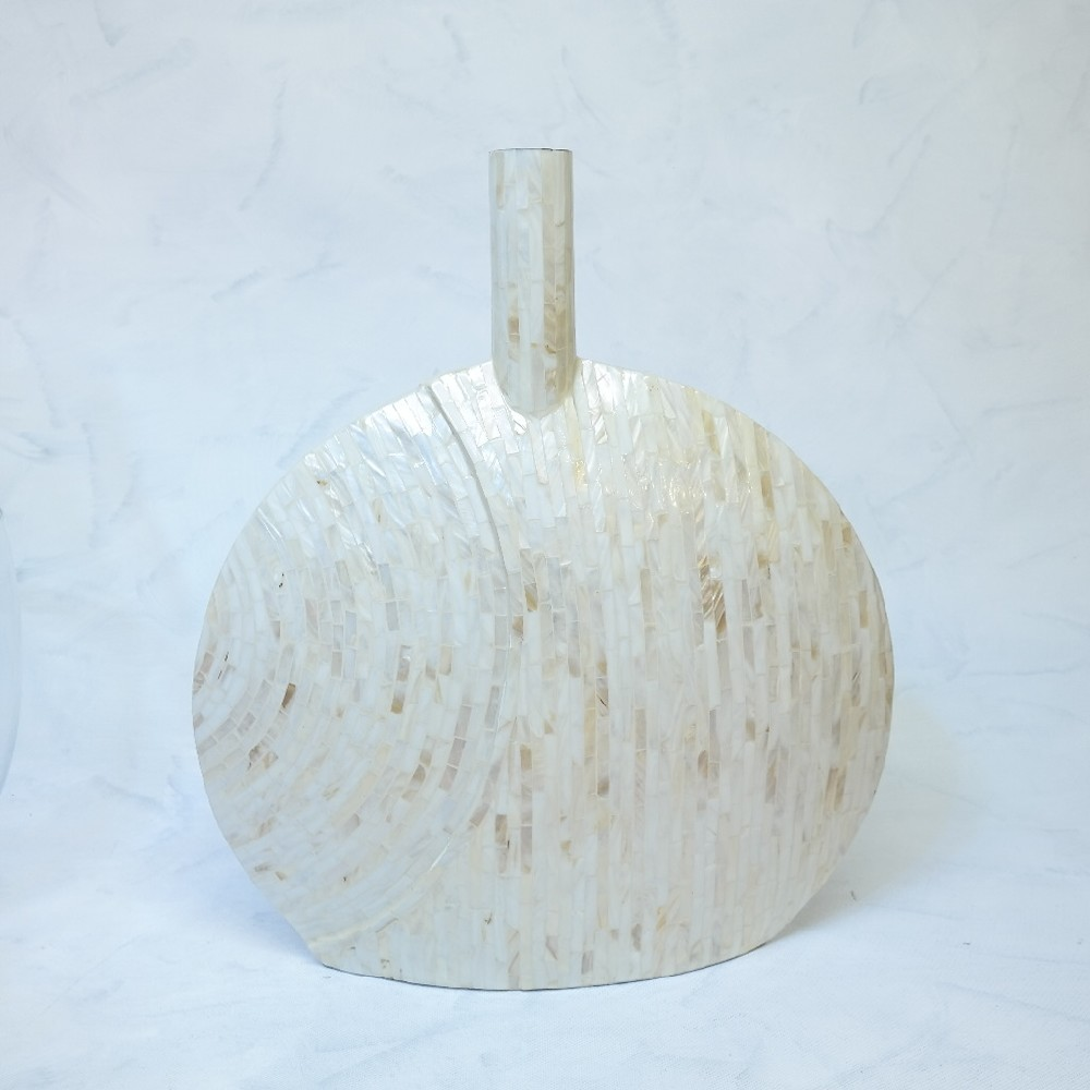 váza krémová lesk