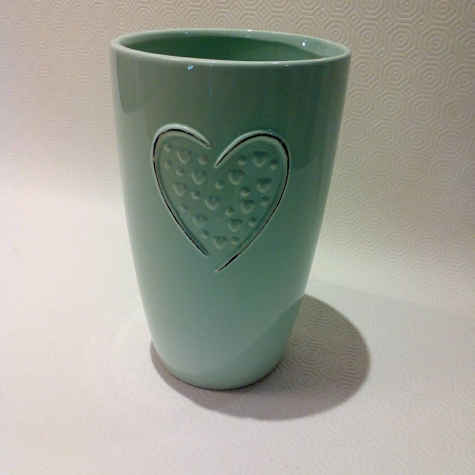 váza srdce výška 22cm II.jakost