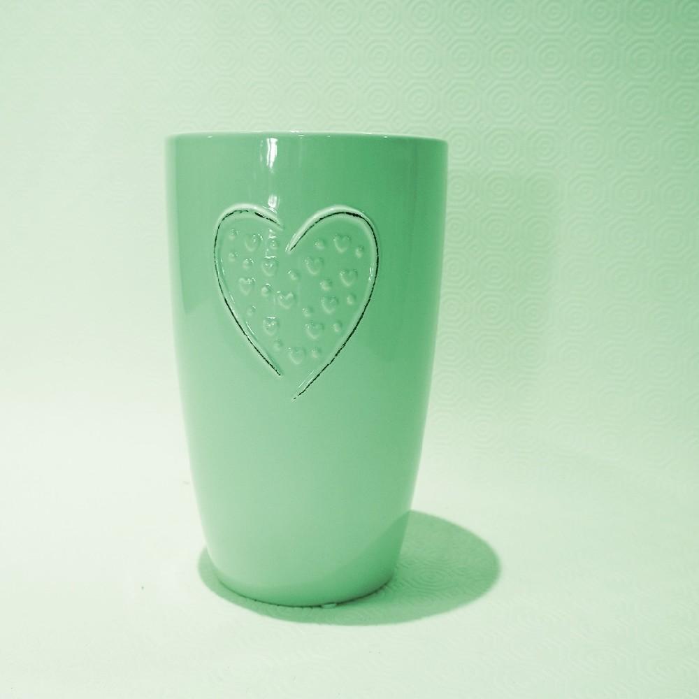 Kulatá váza zelená