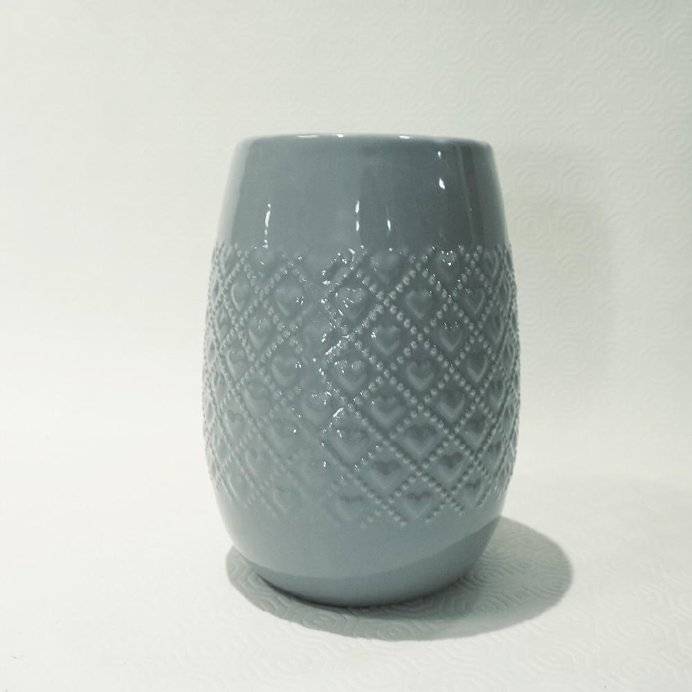 Kulatá váza šedá