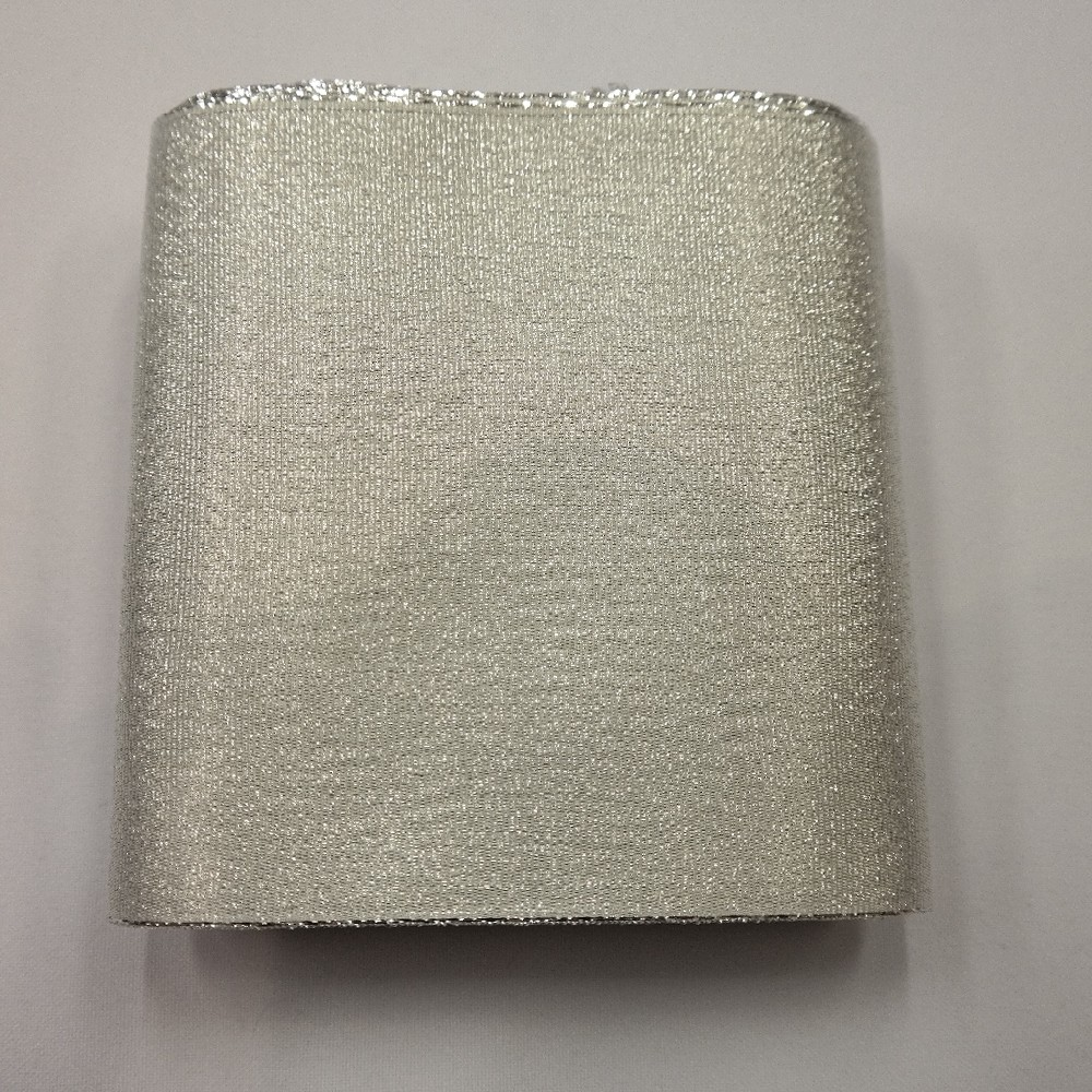 stuha leská 110mm stříbro