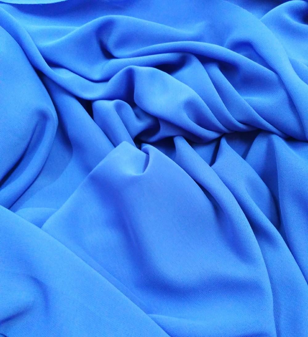 Šifon  tm. modrý