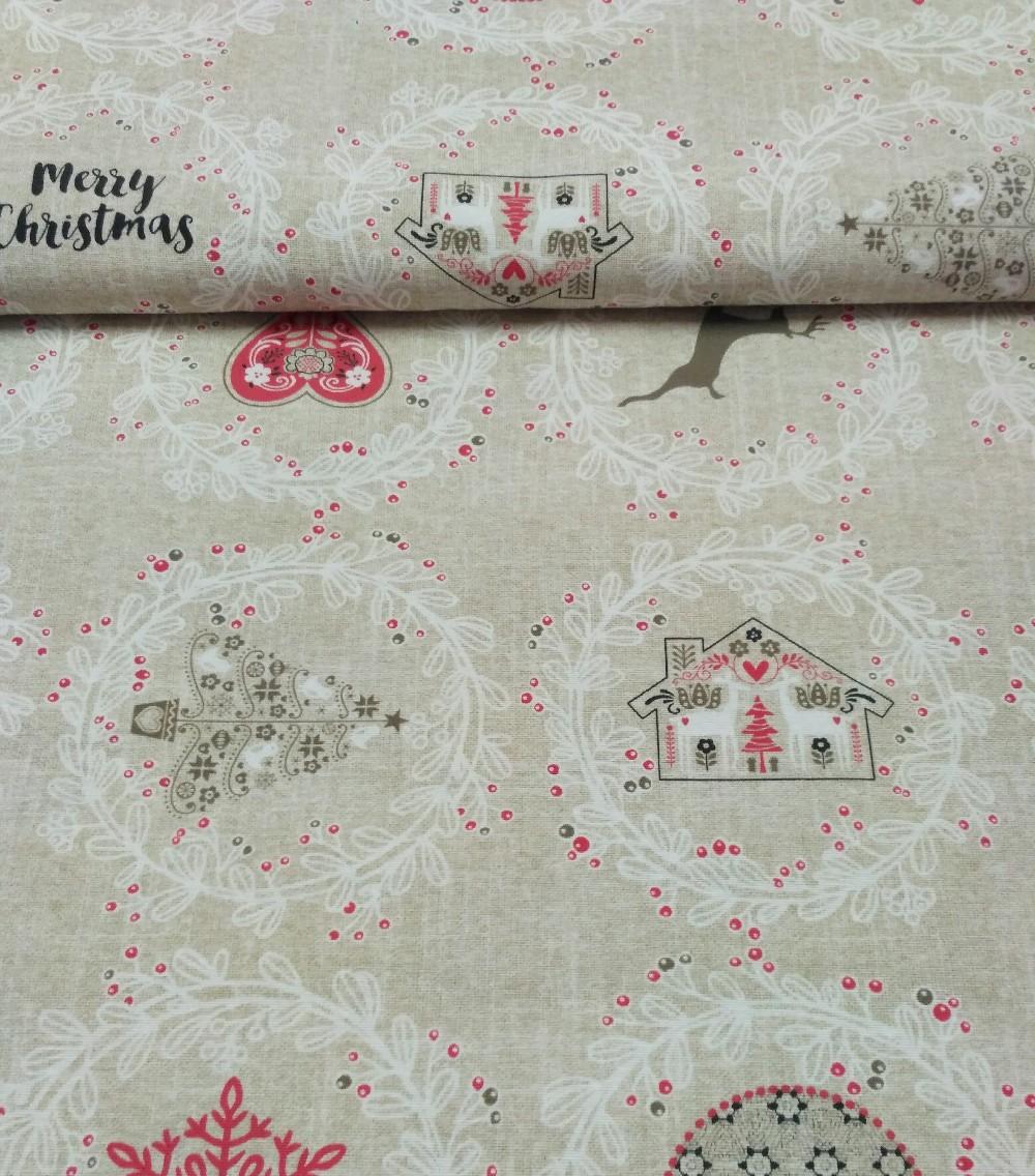 bavlna režná vánoční