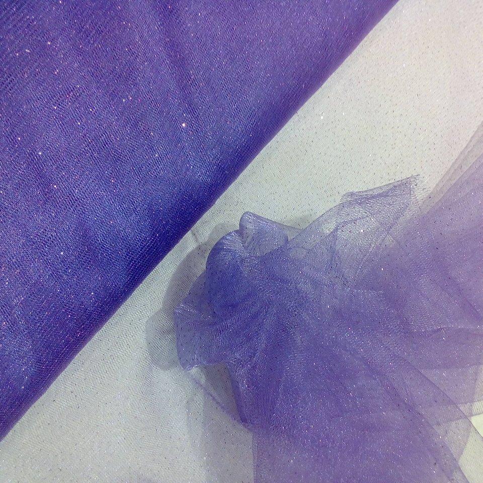 Tyl fialový třpyt
