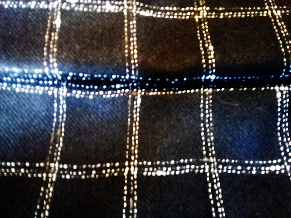 oděvní kostymovka vlna černo bílá kostka