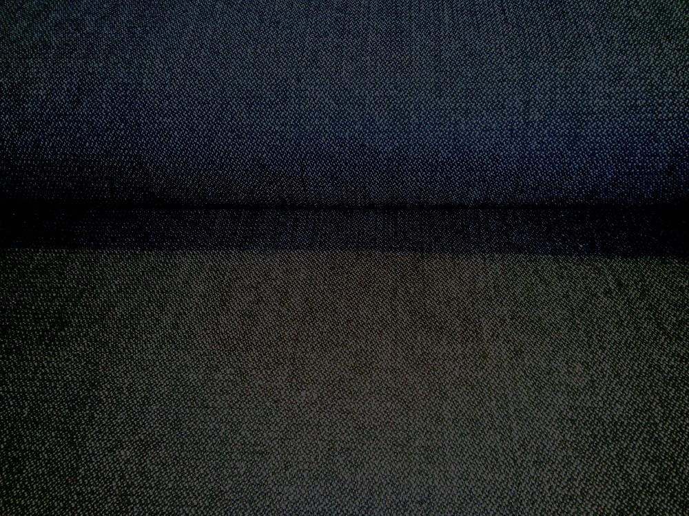 oděvní kalhotovina natur černá 140 cm