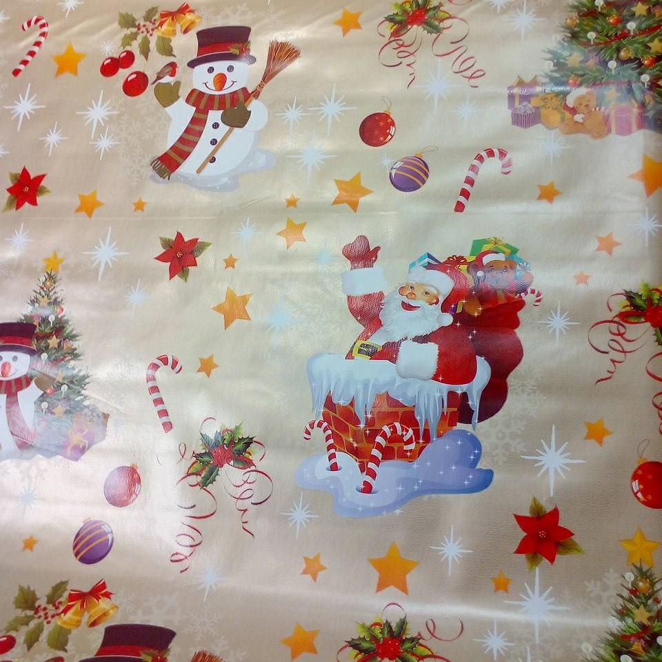 PVC ubrus vánoce santa sněhulák