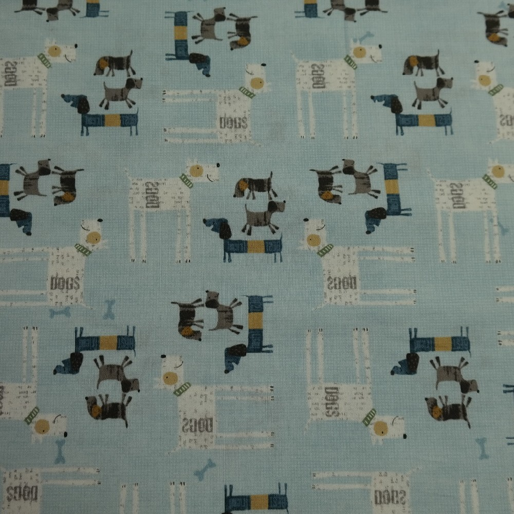 bavlna sv. modrá pejskové