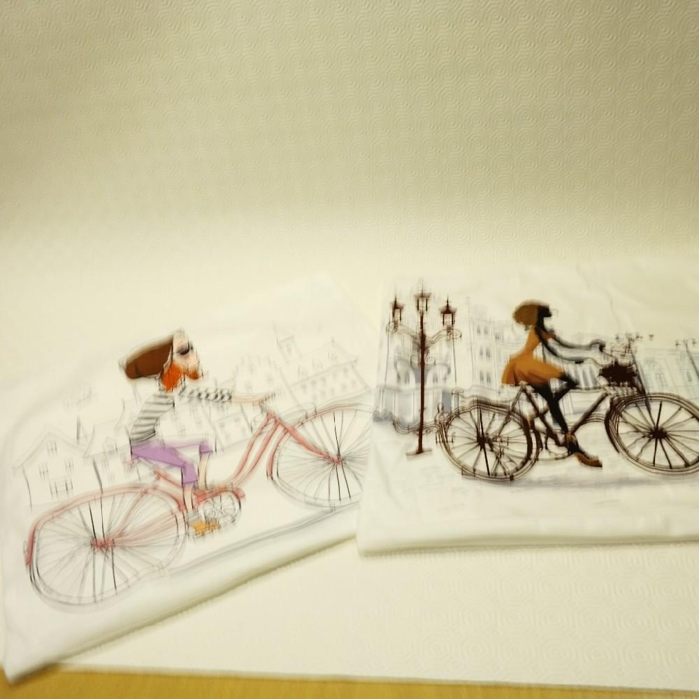 povlak dívka na kole