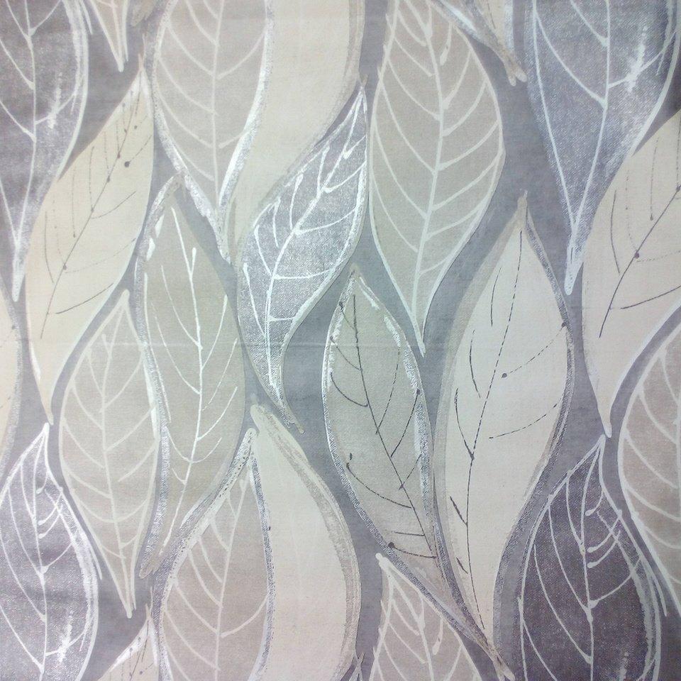 ubrus PVC stříbrné listy