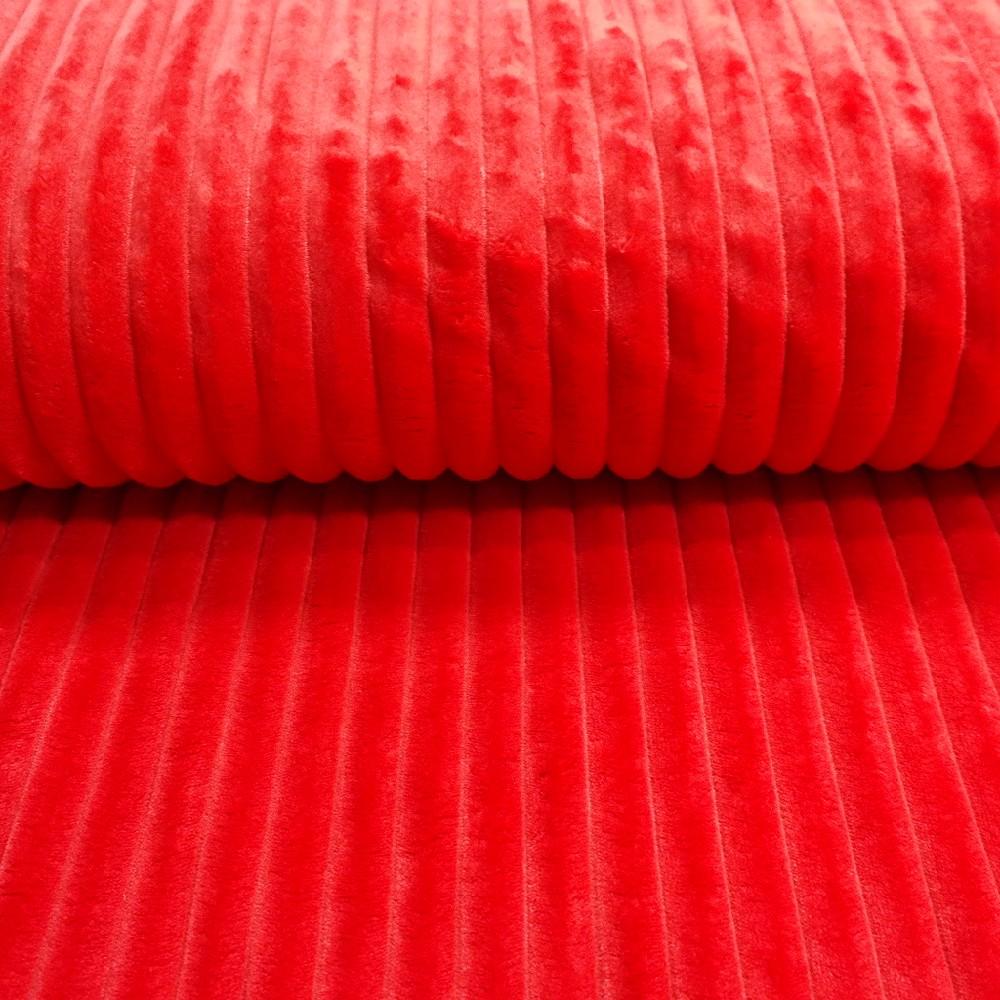 minky pruhy červené